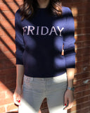 LETTERED PULLOVER  (SUNDAY - FRIDAY)