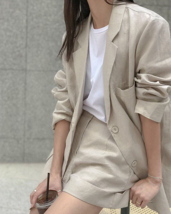 LUXE LINEN JACKET - 3 COLORS