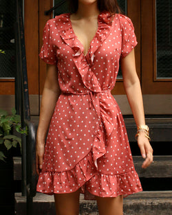 CREPE WRAP DRESS #2