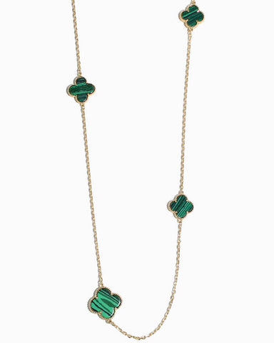 CLOVER CHARM LONG NECKLACE