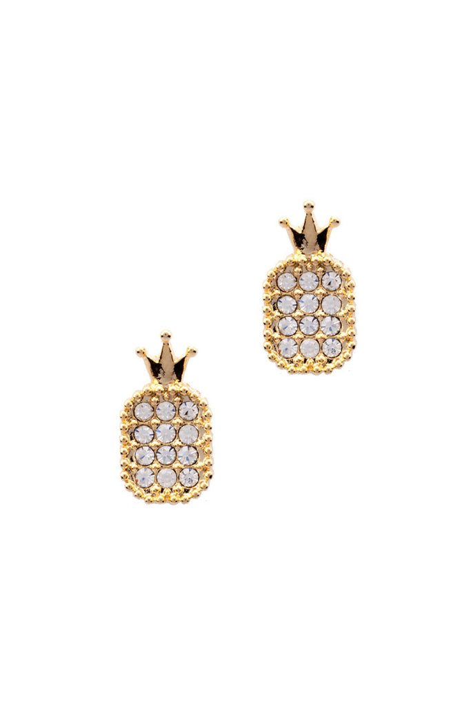 CROWN PINEAPPLE EARRINGS