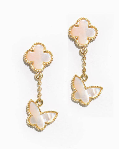 CLOVER & BUTTERFLY EARRINGS
