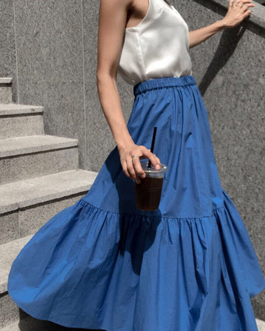 LUXE VOLUME SKIRT - 4 COLORS