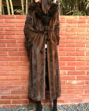 [FINAL SALE] SABLE COLLAR MINK FUR COAT