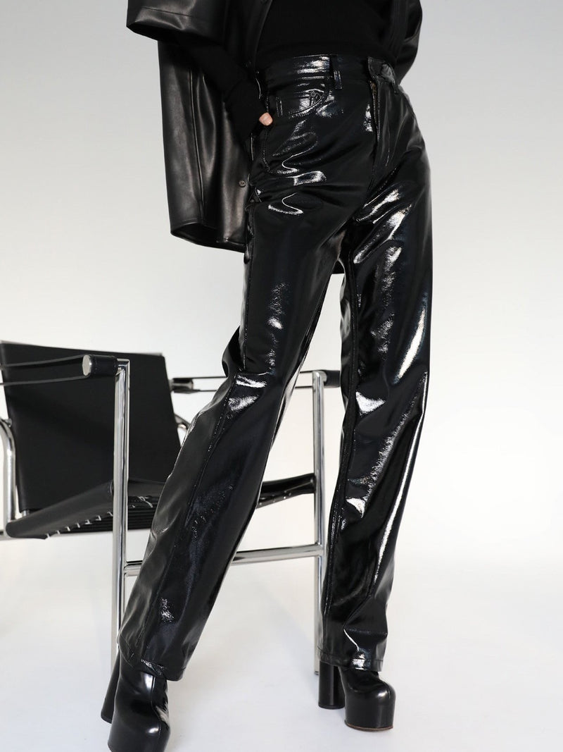 CLASSIC PATENT LEATHER TROUSERS