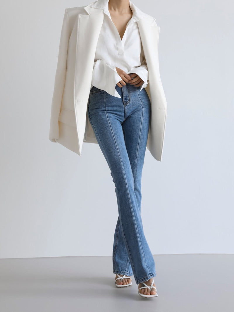 HIGH RISE FLARED BOOTCUT JEANS