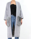 FOX FUR WOOLEN COAT