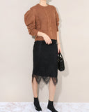 [EDITOR'S PICK] LACED KNIT SKIRT