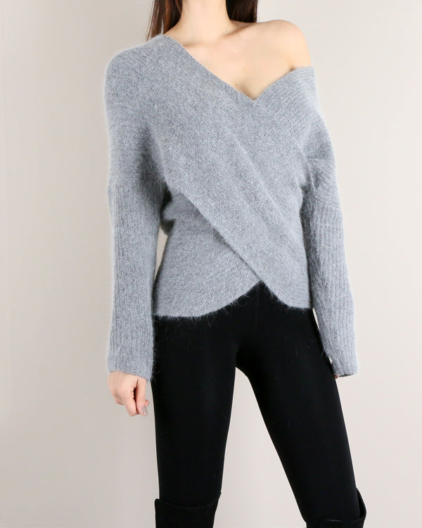 MAJU ANGORA KNIT SWEATER