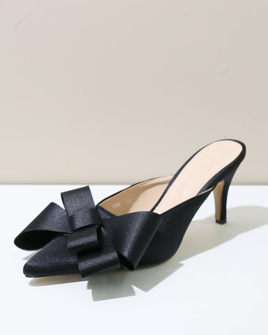 BOW SATIN MULES - 4 COLORS
