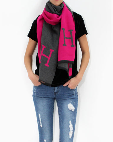 H WOOL SCARF - 4 COLORS