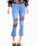 FISHNET BOOT CUT JEANS