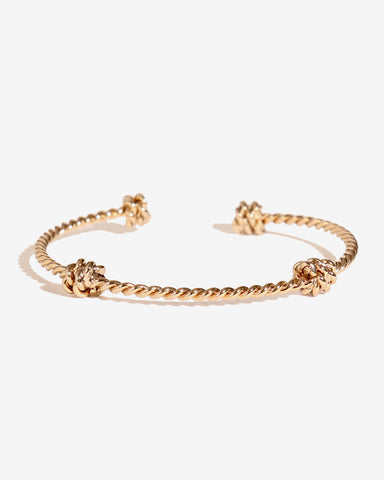 BRAIDED KNOT BANGLE BRACELET