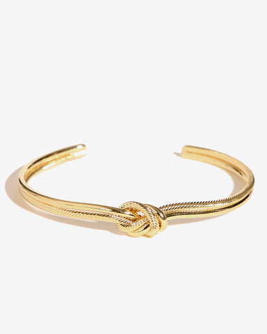 TWO TONE KNOT BANGLE BRACELET