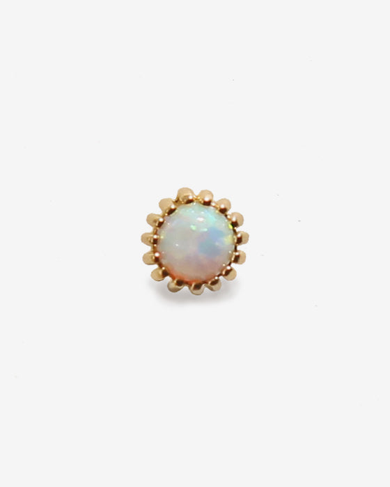ROUND OPAL SINGLE EARRING