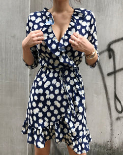 CREPE WRAP DRESS