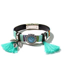 ETHNIC TASSEL BANGLE - 3 COLORS