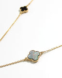 MULTI COLOR LONG CLOVER NECKLACE