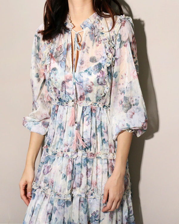 FRILLED GEORGETTE DRESS