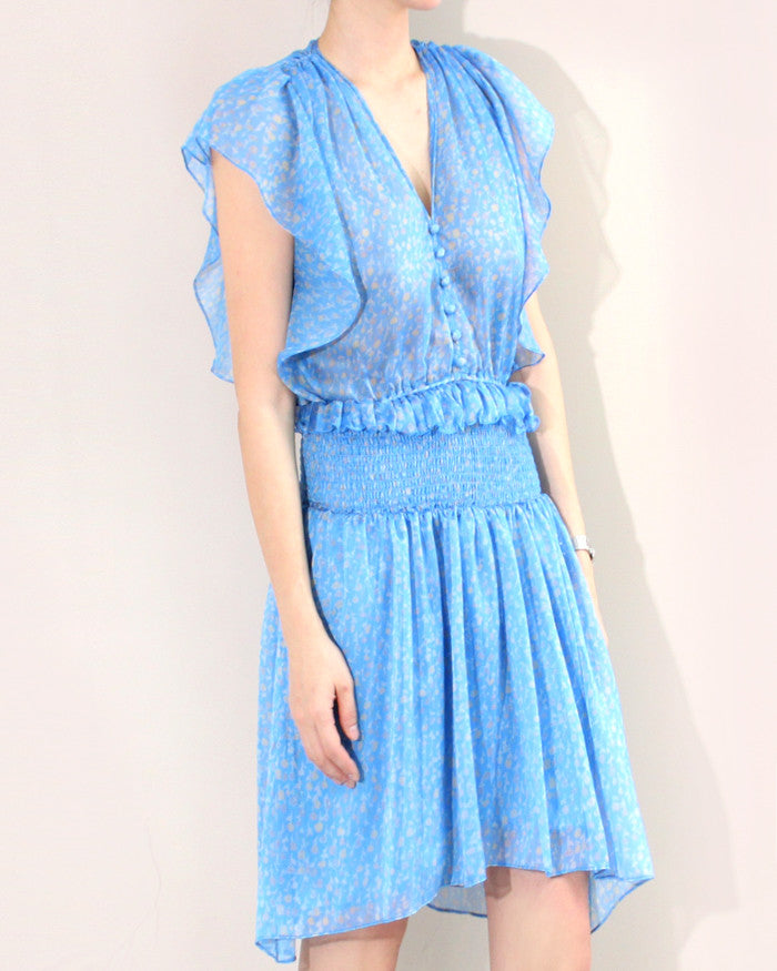 SMOCKED CHIFFON DRESS
