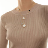 ASYMMETRIC CLOVER NECKLACE