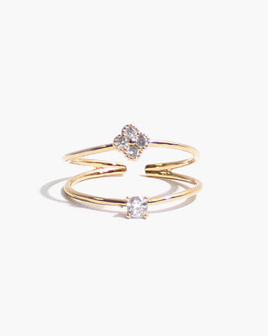 LAYERED CZ RING