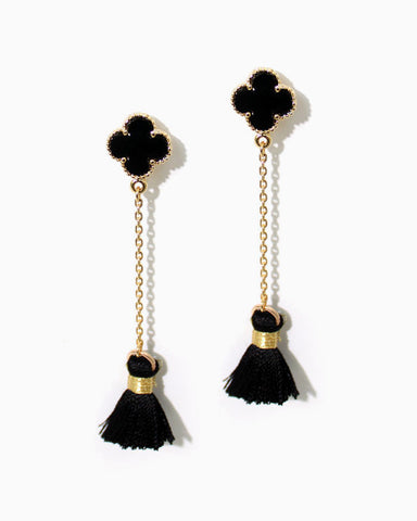 TASSEL CLOVER EARRINGS
