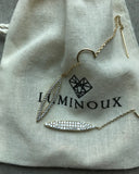 [LUMINOUX] ASYMMETRIC CZ EARRINGS