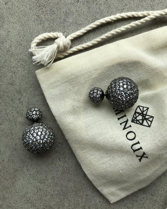 [LUMINOUX] CRYSTAL BALL EARRINGS