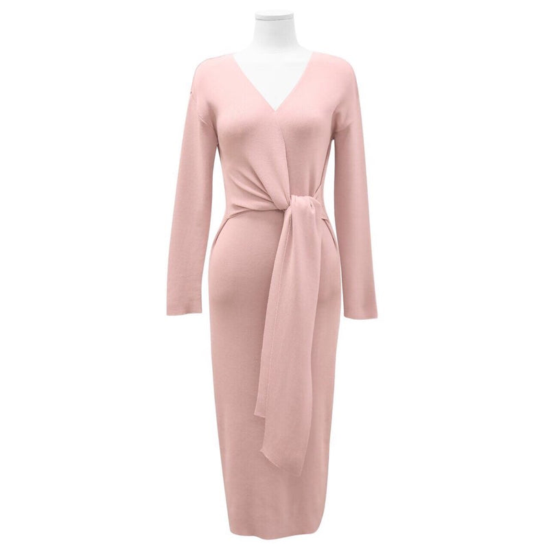 TIE KNOT KNIT DRESS - 4 COLORS