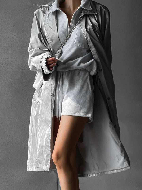 METALLIC OVERSIZED RAINCOAT