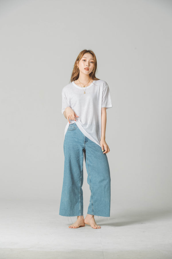 LINEN SHORT SLEEVE T-SHIRT