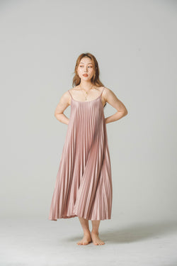 SILK PLEATED DRESS