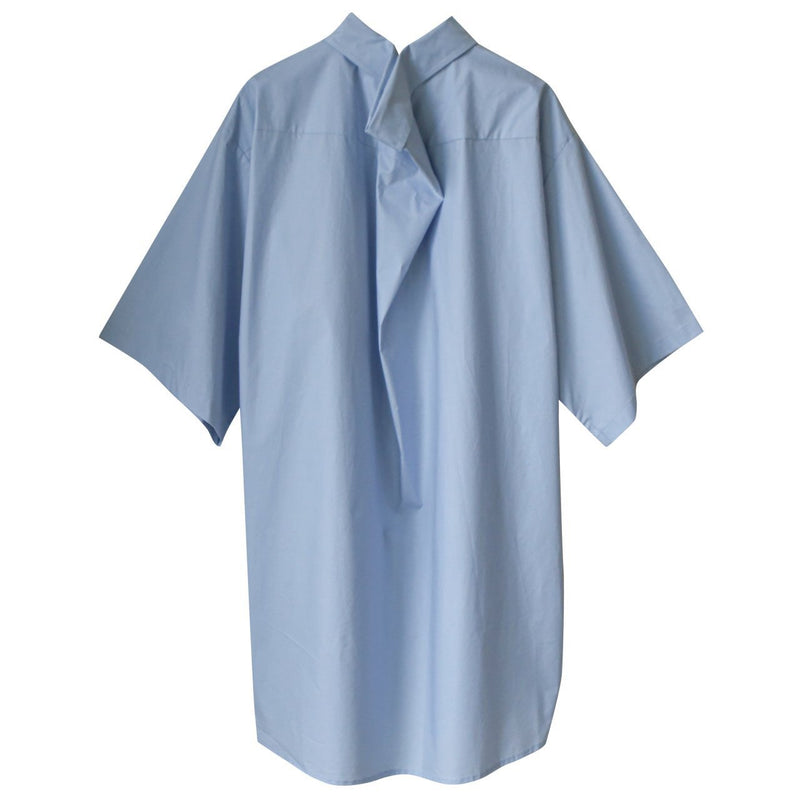 OVERSIZED HALF SLEEVE SHIRT PINCHED COLLAR