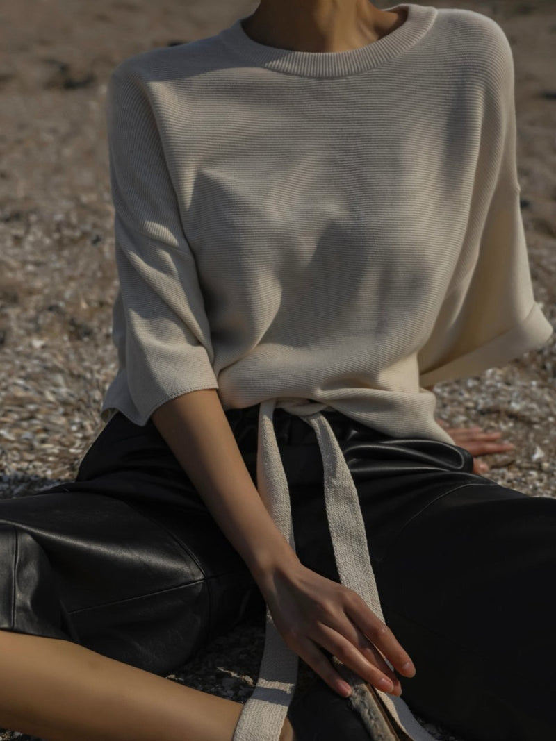 OVERSIZED LOUNGE KNIT TOP
