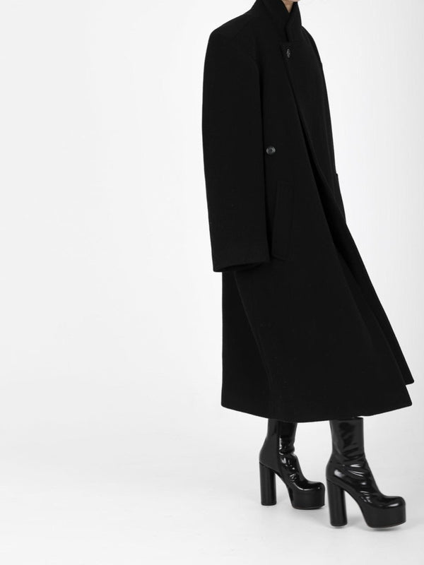 OVERSIZED UNBALANCED WOOL COAT