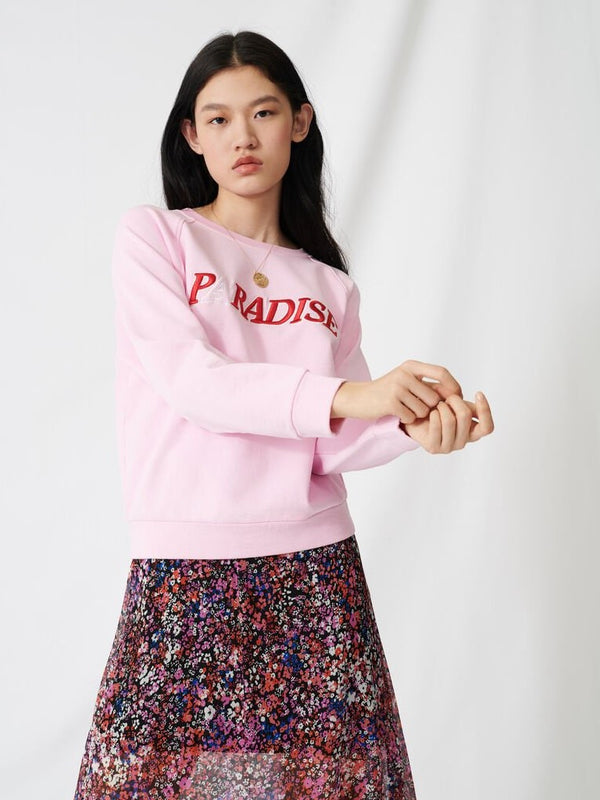 PARADISE PRINTED COTTON SWEATSHIRT