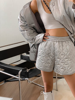 QUILTED PADDED SHORTS