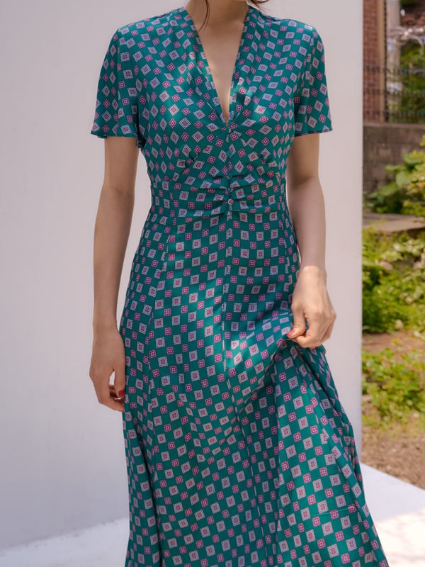 SANDRODANO PATTERNED DRESS