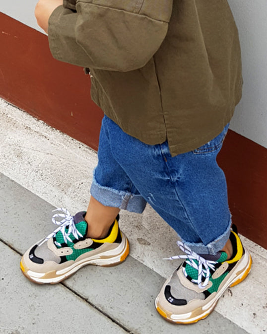 KID'S PLATFORM SNEAKERS - 4 COLORS