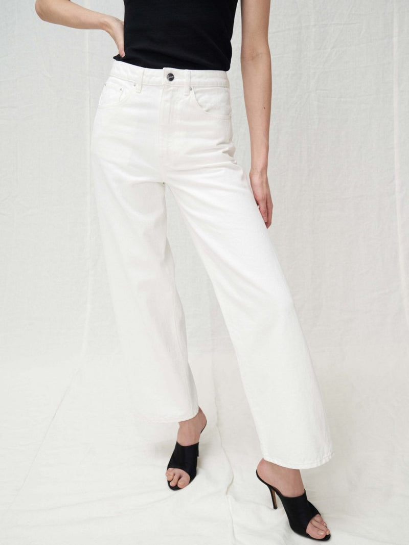WHITE TWILL VOLUME DENIM JEANS