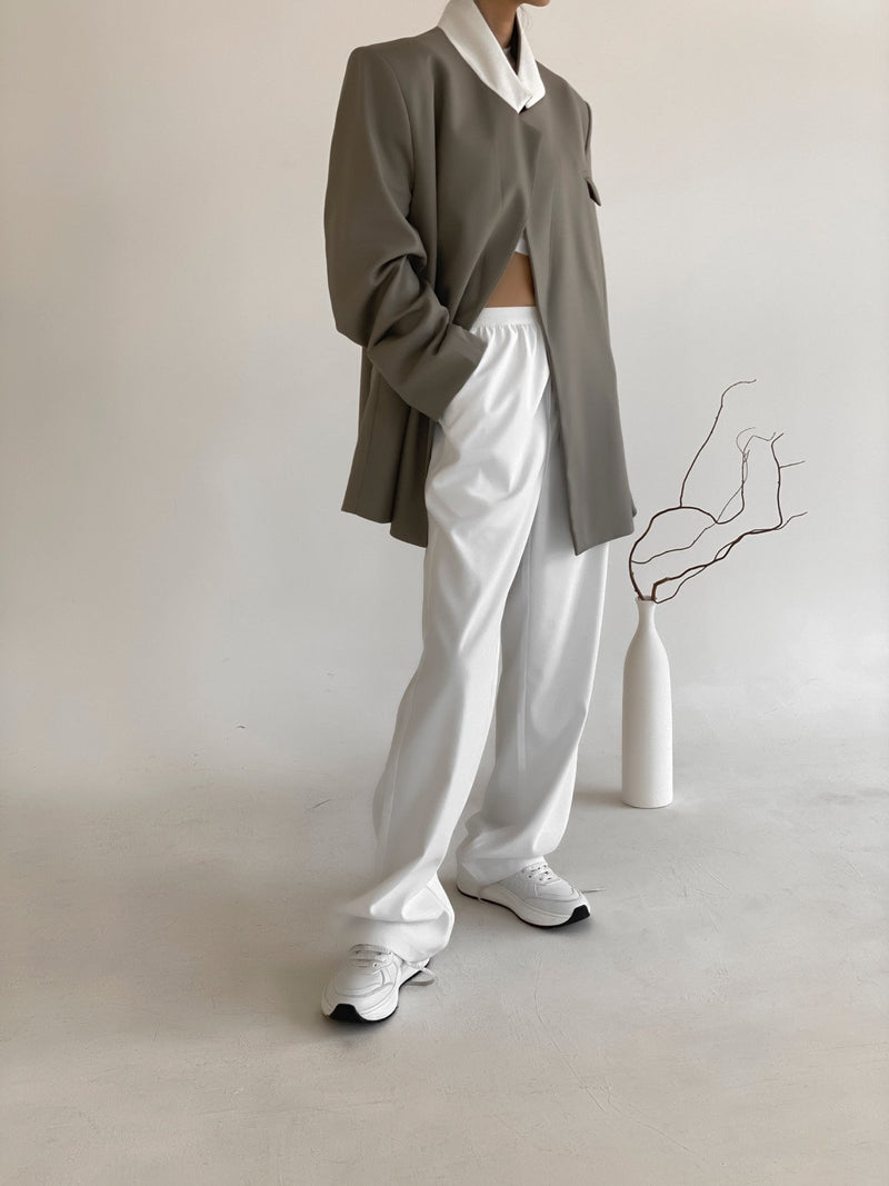 WIDE BANDED TROUSERS