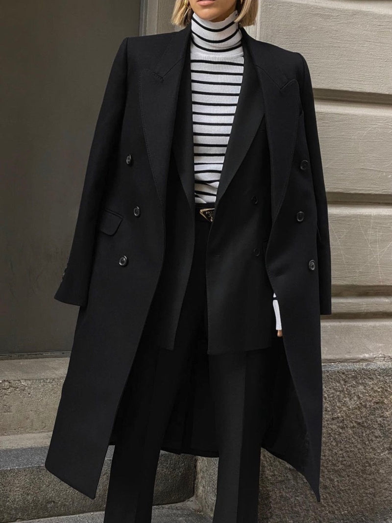 OVERSIZED BOYFRIEND DOUBLE BREASTED COAT