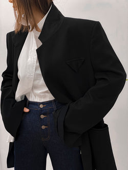 OVERSIZED BUTTONLESS TAILORED BLAZER