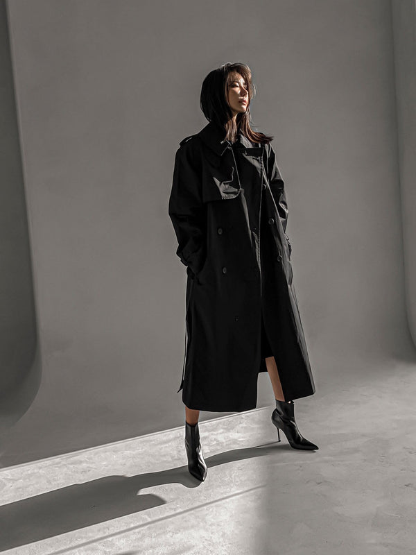 CLASSIC VINTAGE OVERSIZED TRENCH COAT