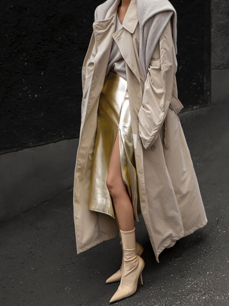 OVERSIZED CORDUROY TRENCH COAT