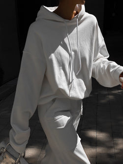 DOUBLE FLEECE BUBBLE HOODIE