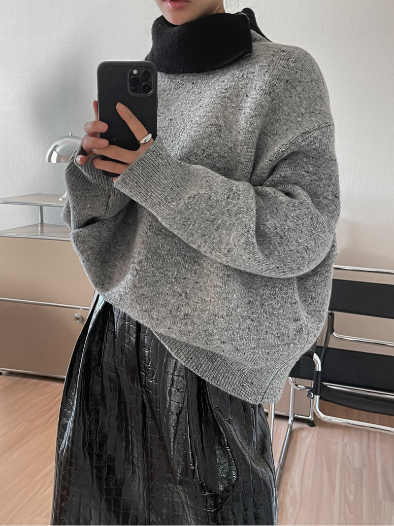 DOUBLE TURTLENECK KNIT