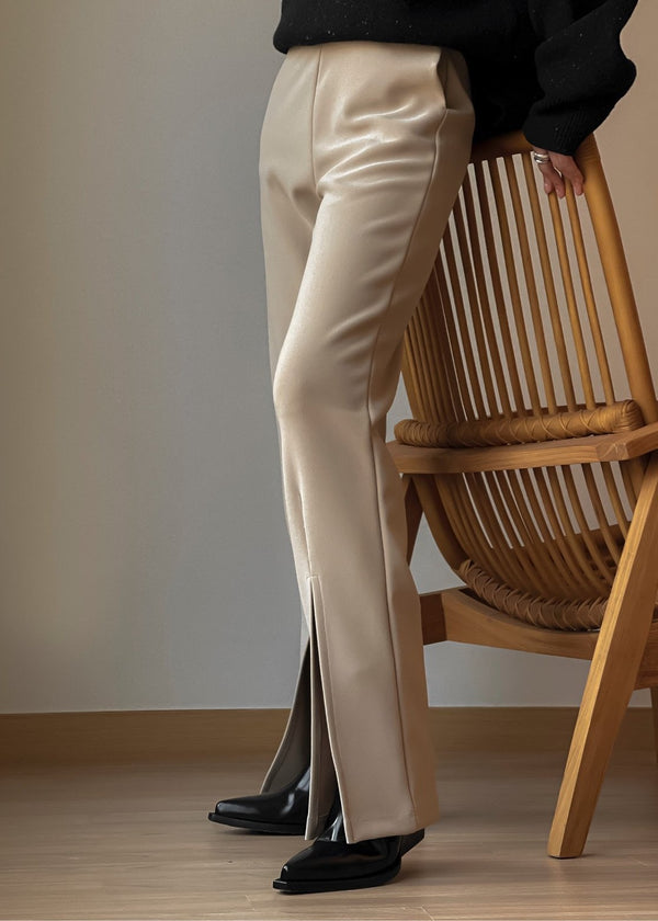 FRONT SLIT DETAIL TROUSERS