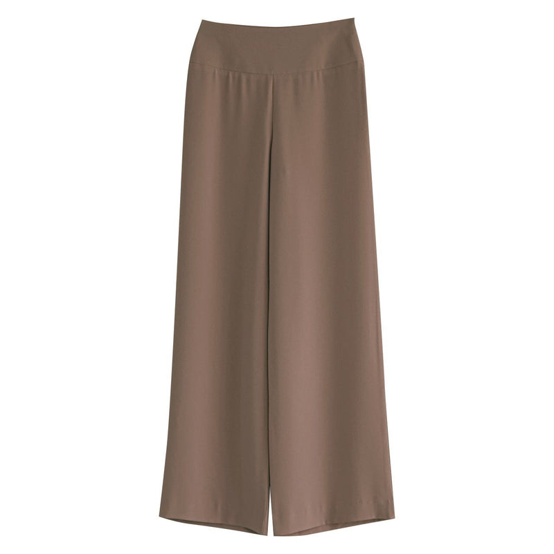 HIGH-RISE WIDE LEG CREPE TROUSERS